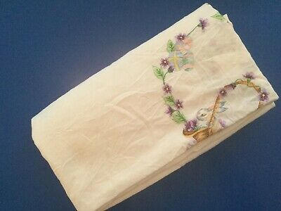 Vintage Embroidered Tablecloth - Easter 020802