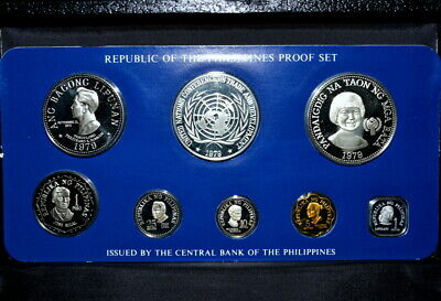 1979 Philippines Coin Proof Set ✪ Franklin Mint ✪ 8 Piece L@@K Now ◢Trusted◣