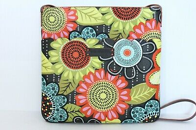 Vera Bradley Crossbody Bag Travel Purse Faux Leather Floral Flower Shower print