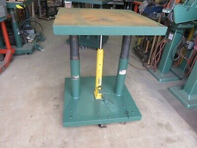 Lexco Hydralic Lift Table Wesco 30x30 2000 lbs. Lift Presto Die Cart