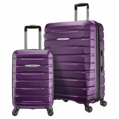 "Samsonite TECH TWO 2-Piece Hardside Luggage Set, (27"" and 20"") Purple"