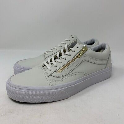 NEW VANS OLD Skool Zip Leather Zephyr Mint Green Blue Blanc