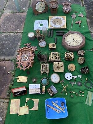 Large Vintage Job Lot Clocks, Movements, Spare Parts *COLLECTION ONLY*