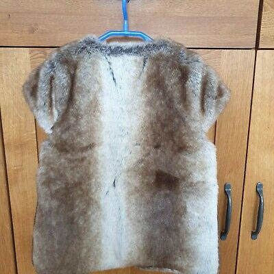 M&S Autograph Girls Fur Gilet Age 6-7