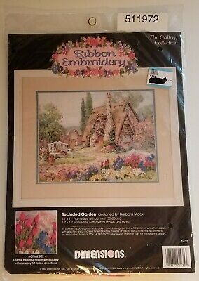 Dimensions Secluded Garden Ribbon Embroidery Kit #1435 Barbara Mock