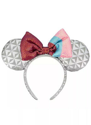 NEW Disney Parks Minnie Mouse Ears Epcot Spaceship Earth Bubblegum Wall Headband