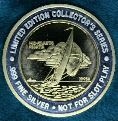 Rare 1995A Collector's Series 'Mid-Atlantic Regatta' .999 Fine Silver $20 Strike