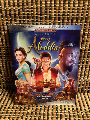 Aladdin (1-Disc Blu-ray, 2019)Disney Remake.Guy Ritchie/Will Smith/Naomi Scot