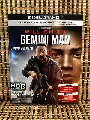 Gemini Man 4K (1-Disc Blu-ray, 2020)+Slipcover.Will Smith/Ang Lee/Clive Owen