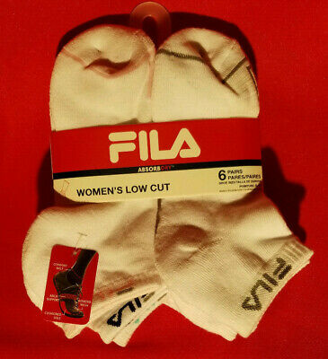 Women/'s FILA 4 Pack Invisible Liners 9-11 shoe size 4-10 Black socks