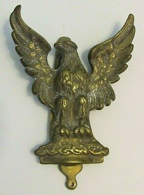 Vintage Brass Open Winged EAGLE Door Knocker, Made In England