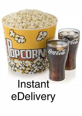 AMC Theatres 1 LARGE Popcorn & 2 LARGE Drinks exp 12/31/20   5 MINUTE eDELIVERY!