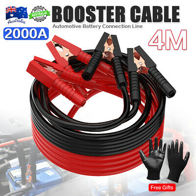 2000AMP Jumper Leads 4M Long Surge Protected Jump Car Booster Cables Heavy-Duty