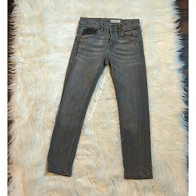 ZARA Boys Jeans With Faux Leather Detail Size 6-7 years