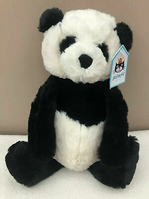 NEW Jellycat Medium Baby Bashful Panda Cub Black White Soft Comforter Toy