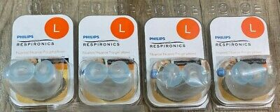 4 Philips Respironics Nuance/Nuance Pro Nasal Gel Pillows, LARGE