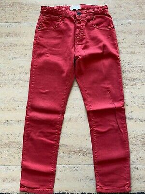 Zara (Massimo Dutti Group) Red Boys Pants-Jeans Size 7 Years - 122Cm
