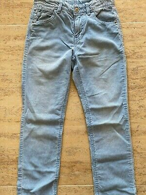 United Colors of Benetton Blue Corduroy BOYS PANTS SIZE 7-8 YEARS - 130CM