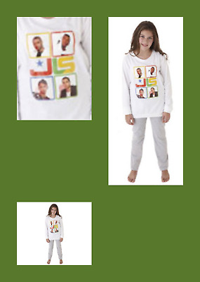 PJ GIRLS COTTON JLS PYJAMAS AGE 7/8 LONG BOTTOMS + LONG SLEEVE PJ's TOP~ BNWT