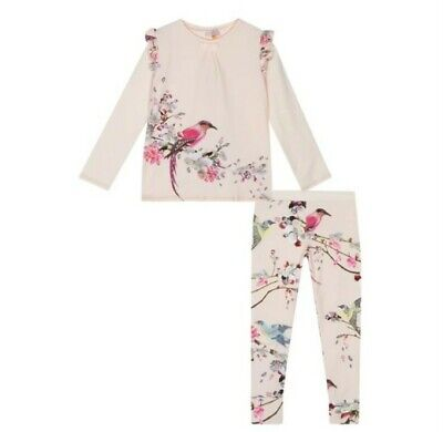 Ted Baker Girls' Flight of the Orient  Pink Pyjama set 11-12 years. Designer