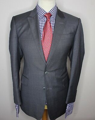 CHESTER BARRIE SAVILE ROW LUXURY SUIT FINE STRIPED MODERN FIT 40x34x30