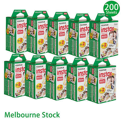 200 Sheet Fujifilm Instax Mini Film Fuji instant photos 7s 8 25 90 Polaroid 300@