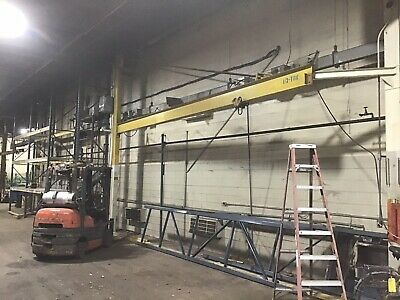 Jib Crane 1/2 Ton Foor To Ceiling 24' Span, Overhead Cranes Up To 15 Ton Also