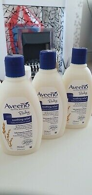 X3 Aveeno Baby Soothing Relief Baby Emollient Wash 354ml brand new