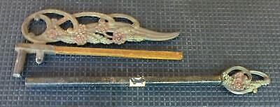 Cast Iron Swing Arm Curtain Rod Holdback tie back hold back victorian a