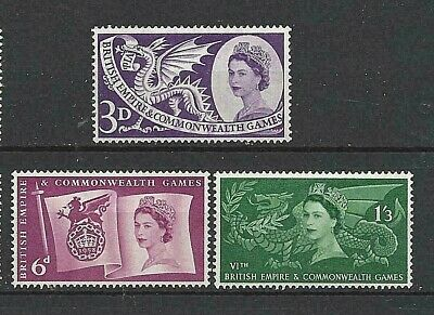 Gb 1958 Sg567-69 Sixth British Empire And Commonwealth Games Mnh