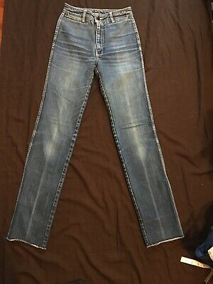 Vintage Jordache Jeans 1980s Size 29 Long Cool Faded Pattern High Waisted