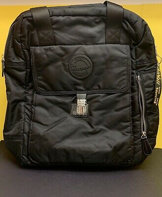 Dr. Martens - NEW Black Large Flight Nylon Backpack Rucksack / Unisex