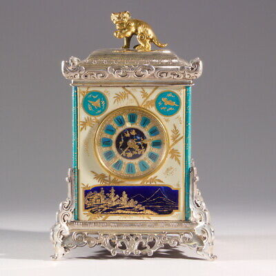 French Aesthetic Movement Japonisme Mantel Clock