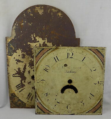Longcase / Grandfather Clock Dial - Reynolds, Wadebridge, & One Other To Restore