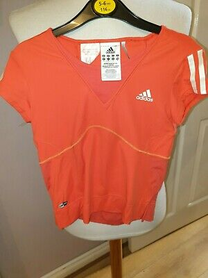 Superb New Girls Designer Adidas Clima Cool Fitness Top Uk 28/30 (10/12 Yrs) £35