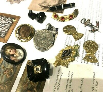 Antique Lot Of Victorian & Georgian Jewellery Rare Collectable  Brooches