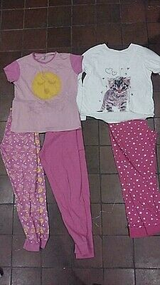 Job lot bundle clearance girls age 12 13 years PJ'2 2 tops 3 bottoms pyjamas