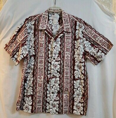 NWT Southpole Hawaiian Shirt Mens 6XL Red White Floral Short Sleeve Button Front