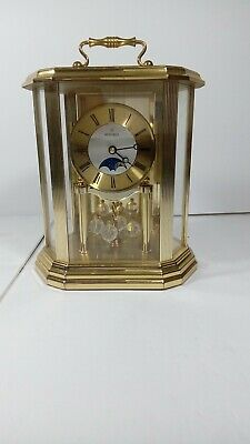 MONTREUX Hedwin Mantel Quartz Moon Phase Clock use keep good time 4spots on top