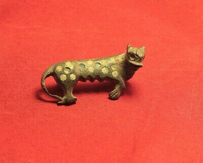 Fine Ancient Roman Enamelled Panther Fibula or Brooch, 2. Century - Zoomorph!