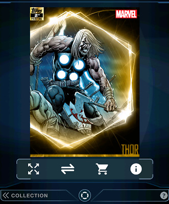 THOR-ULTIMATE UNIVERSE-2nd PRINTING-750cc-TOPPS MARVEL COLLECT DIGITAL