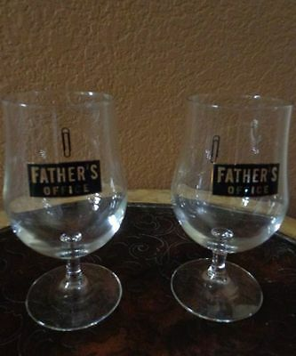 Glass Tumblers Father's Office Paper Printed Paper Clip Logo Set 0f 2