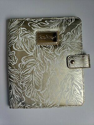 Lilly Pulitzer Gold Metallic Leafs Agenda Folio NWT
