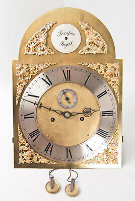American or English 8 day brass dial grandfather clock movement only @ 1780