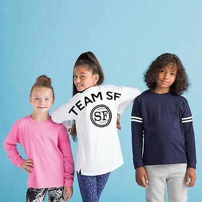 Personalised Your Text Logo SM514 SF Minni SM514 Kids drop shoulder slogan top s