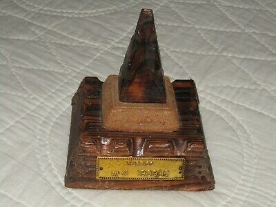 CURTISS MODEL PLANE AIRPLANE BASE STAND WOODEN m * A 1909/10 Antique Vintage