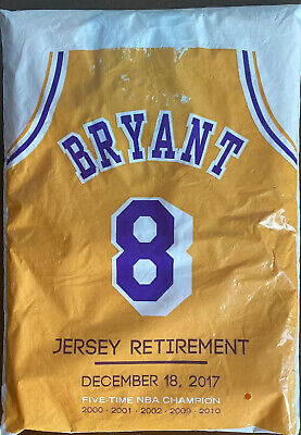 KOBE BRYANT •  LA LAKERS • 2 PACK • # 8 & # 24 RETIREMENT JERSEY. From Ceremony