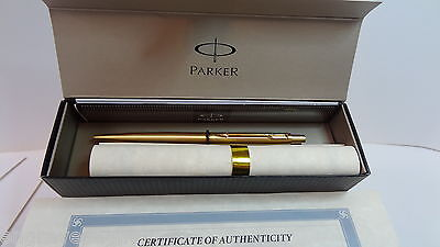 Parker 24k gold plated CLIP refillable ball pen and gift box FREE ENGRAVING