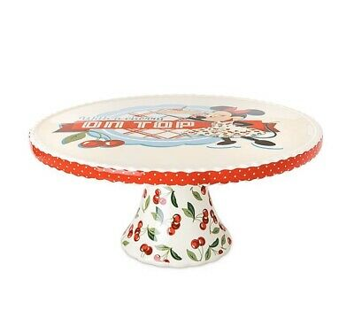 2020 Disney Parks Mickey & Minnie Mouse Retro Kitchen Cake Stand