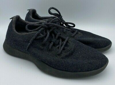 Allbirds Mens Wool Runners Lace Up Casual Shoes Charcoal Gray Size 12 US